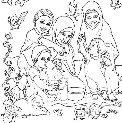 coloring pages of family picnic pin family picnic colouring page on pinterest
