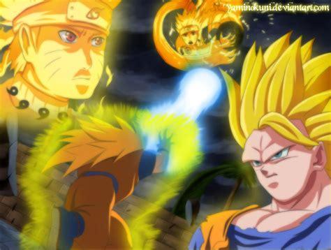 imagenes de goku vs naruto con movimiento goku vs naruto anime debate photo 35996176 fanpop