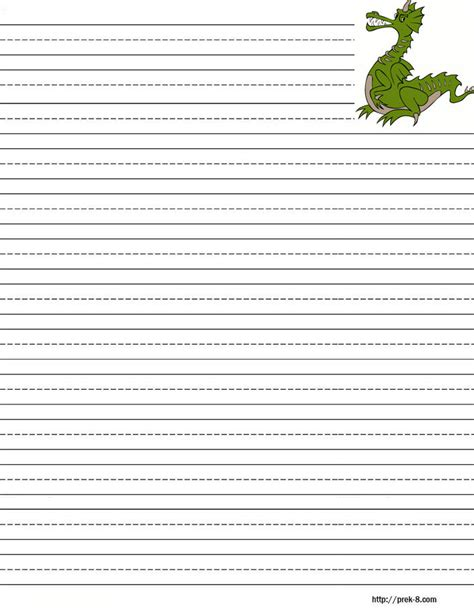 printable writing paper free search results for dragon lined paper template