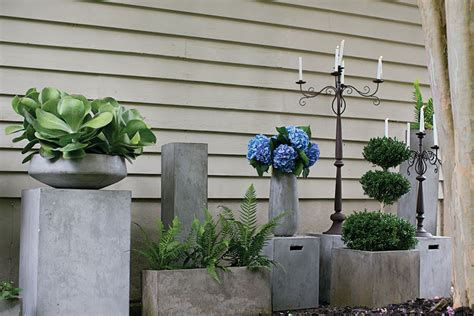 Rectangular Cement Planters by Newport Rectangular Concrete Planter Moss Manor