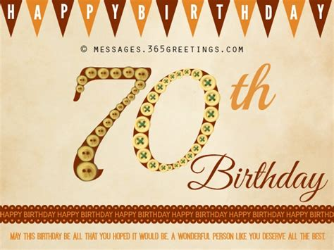 70th Birthday Greetings Quotes Happy 70th Birthday Wishes 365greetings Com
