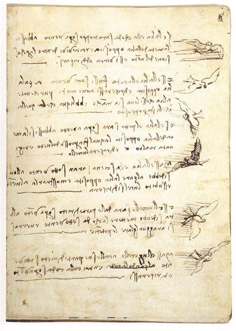 leonardo da vinci biographical notes codex on the flight of birds by leonardo da vinci