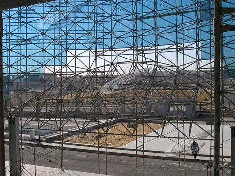 spider glass curtain wall curved spider glass fa 231 ade on space frame cairo egypt