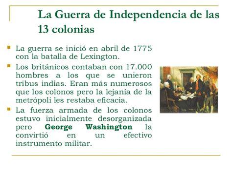 la guerra de las 8498479568 trece colonias independencia