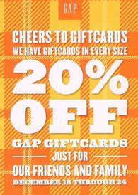 Gap Canada Gift Card - gap old navy canada 20 off gift cards dec 18 24