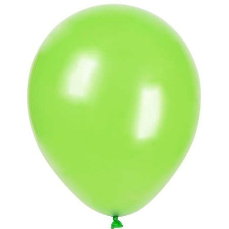 latex balloons, 12 in, lime green, 10ct walmart.com
