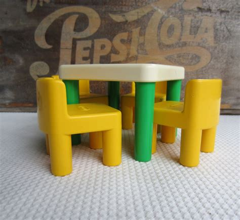 tikes table and chairs vintage tikes table and chairs green and yellow