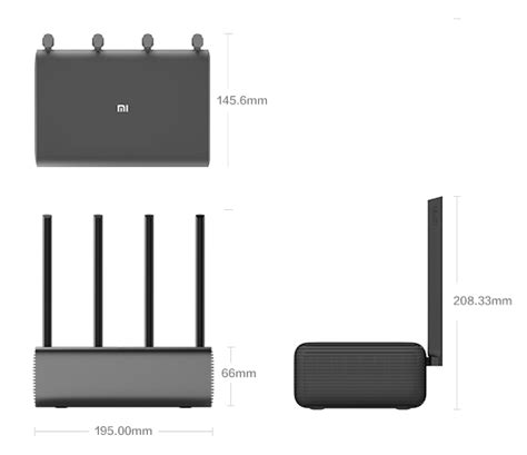 Xiaomi Mi Wifi Hd Router Pro Black original xiaomi mi smart router pro hd 802 11ac 2533mbps