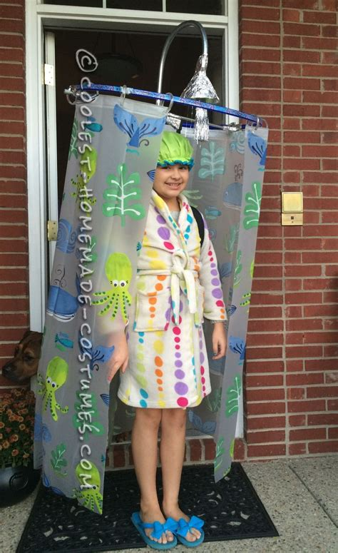 shower curtain halloween costume cool diy costume idea shower curtain costume