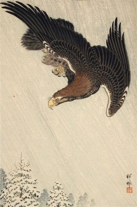 oriental eagle tattoo contemporary japanese woodcuts google search tattoo