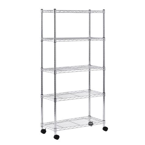 sandusky mws301460 5 tier mobile wire shelving unit with 2