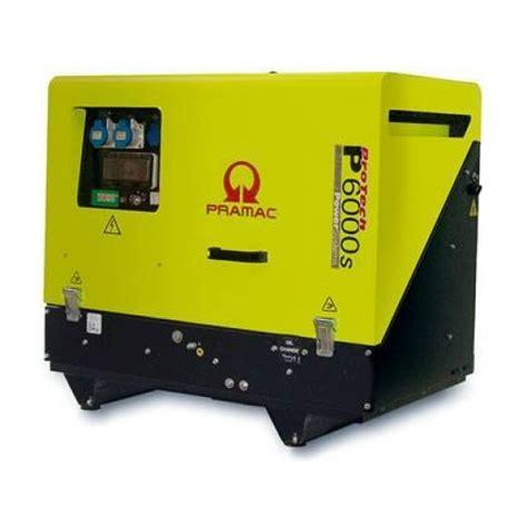 Pramac Gsw65p Diesel Generator Pramac 6kva Silenced Auto Start Diesel Generator