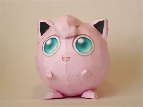 Jigglypuff Origami - jigglypuff papercraft by skele on deviantart