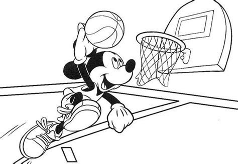 mickey mouse basketball coloring pages mickey mouse basketball coloring pages sport coloring