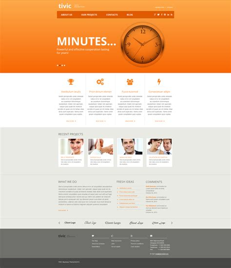 html templates for advertising company marketing agency moto cms html template 47468