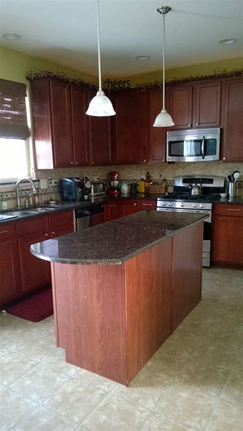cherry finish square maple kitchen cabinets what color wood laminate flooring with maple cherry finish
