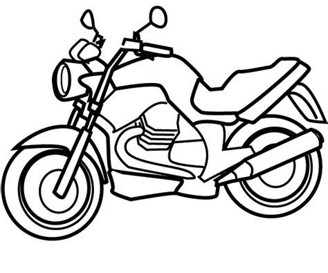 Motorbike Coloring sketch template
