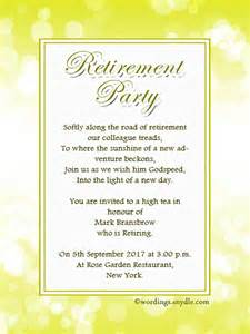 retirement invitation wording ideas and sles wordings and messages