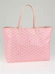 Bright Totes By Zagliani At Matches by Goyard Pink Chevron Coated Canvas St Louis Pm Tote Bag