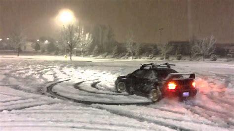 subaru drift snow subaru sti snow drifting youtube