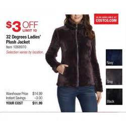 32 degrees ladies navy plush jackets at costco holiday book