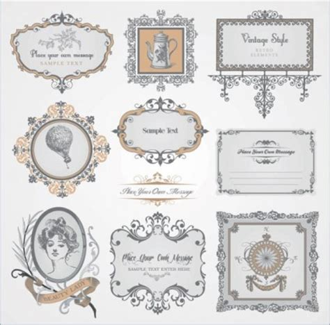 pattern label exquisite europeanstyle pattern label vector vector