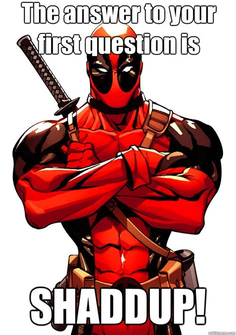 Dead Pool Meme - world wildness web deadpool memes