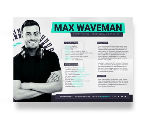 Prodj Dj Press Kit Rider Resume Psd Template By Iamvinyljunkie On Deviantart Free Press Kit Template Psd