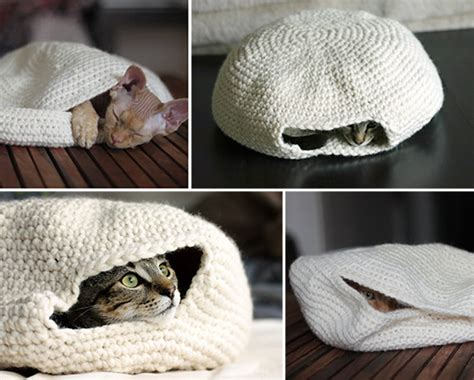 crochet pattern cat cave cozy crocheted cat cave hauspanther