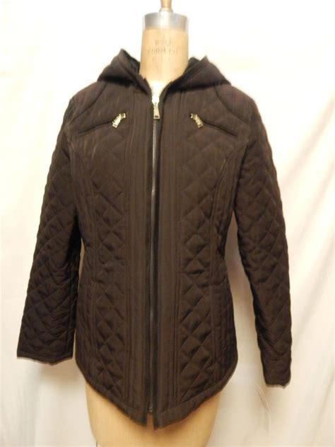 laundry design coat laundry by design quilted lightweight zip front jacket l