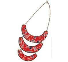 kalung batik etnik 01 designer handmade batik fabric covered necklace cords