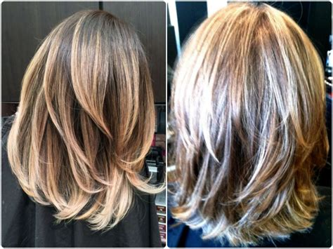 front and back of layered medium haircut styles medium bob hairstyles front and back view short