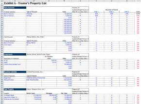 estate spreadsheet template probate spreadsheet laobingkaisuo