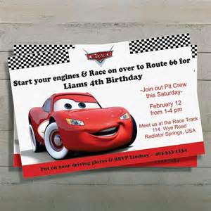 cars birthday invitation lightning mcqueen digital file printable