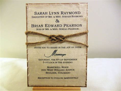 diy stationery diy rustic burlap fabric wedding invitation kit by poshestpapers 25 00 wedding invitation