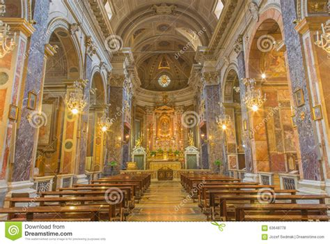 chiesa dei ladari a roma roma la navata principale dei di barrocco santa di