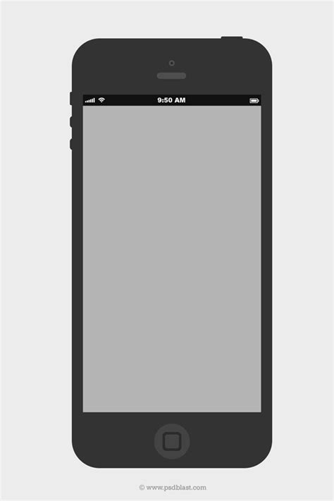 Flat Iphone Wireframe Design Template Psd Psdblast Iphone Layout Template
