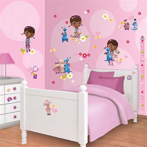 doc mcstuffins room decor walltastic room decor kit doc mcstuffins preciouslittleone