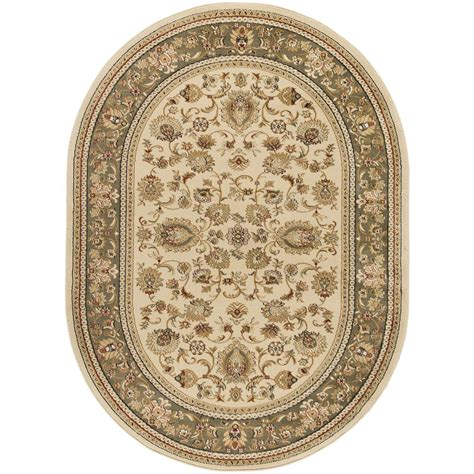 oval rugs 5x8 tayse rugs sensation ivory 5 ft 3 in x 7 ft 3 in traditional oval area rug 4722 ivory 5x8