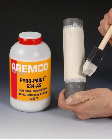 spray paint powder coat aremco new pyro paint 634 as high temp refractory
