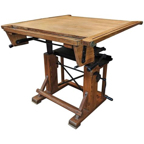 French Adjustable Architect S Drafting Table 1920s At 1stdibs 1920s Drafting Table