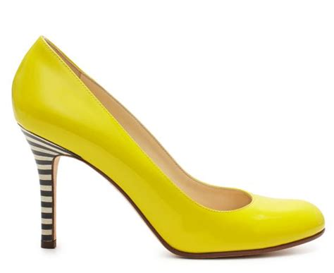 yellow shoes black white yellow kate spade black white and yellow