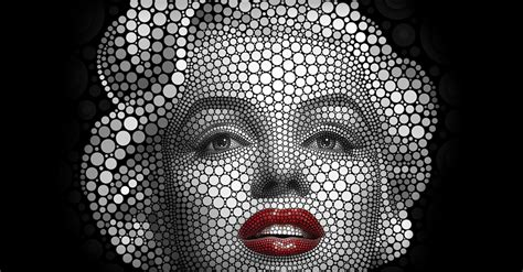 digital circlism he creates art made entirely of circles