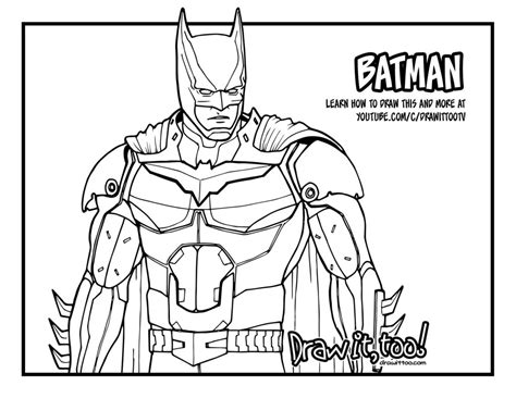Injustice 2 Coloring Pages how to draw batman injustice 2 narrated easy step by