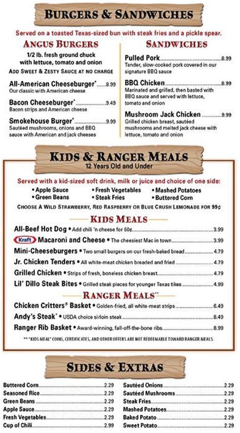 texas road house menu menu at texas roadhouse restaurant grand prairie