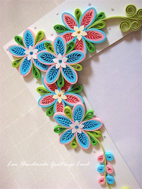 Handmade Quilling Frames - azlina abdul tiny loops flower photo frame