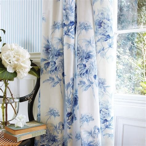 blue floral drapes 5 linen drapery ideas
