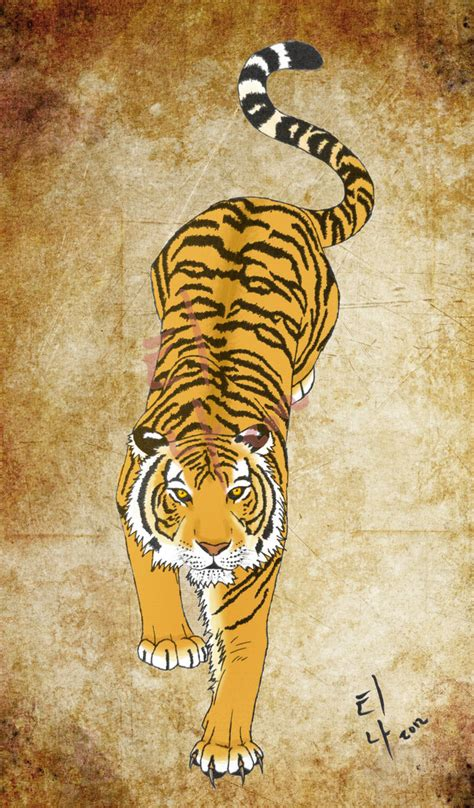 korean full body tattoo korean tiger tattoo by wolfvixyn on deviantart