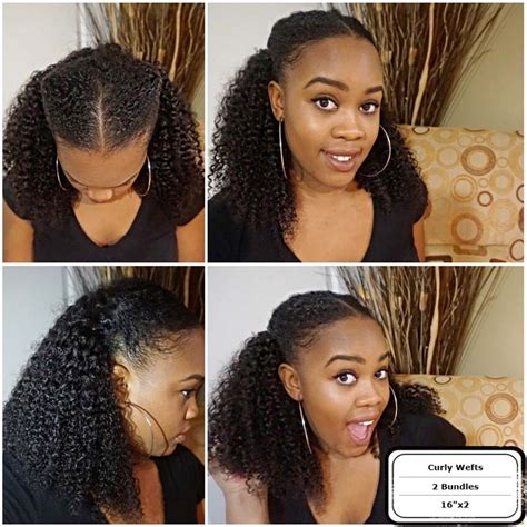 pictures for medium length hairstyles using kinky hair customer has thinning hair in the top natural curly textured 100 virgin human hair wefts