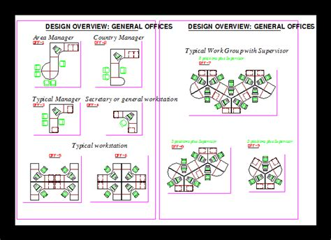 office workstation dwg block  autocad designs cad